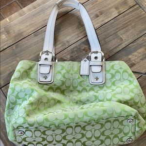 Lime Green Coach purse/tote